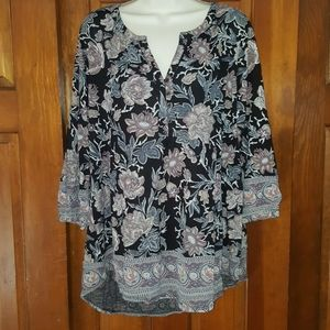 Lucky brand blouse top 1x